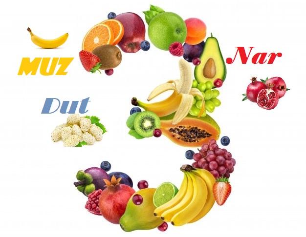 3 (Üç) Harfli Meyveler Sebzeler ve Bitkiler